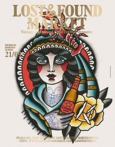 Cartell edició passada del Lostandfound. Autor: Almagro Tattooer
