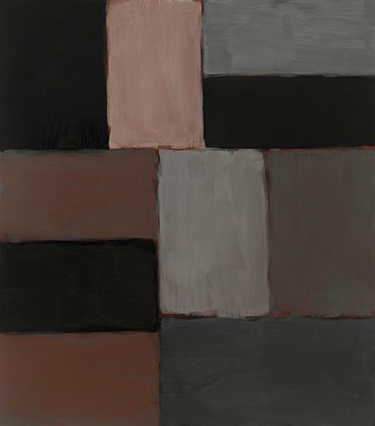 Sean Scully Wall of Light Pink Grey Sky, 2011 Oli sobre tela 215 x 190 cm.