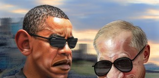 Putin and Obama per DonkeyHotey