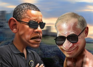 Putin and Obama per DonkeyHotey