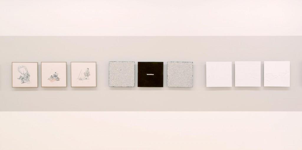 Vista de la sala. D'esquerra a dreta, obres de Manuel Antonio Domínguez – Marla Jacarilla – Alberto Gil