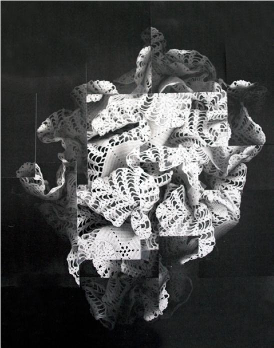 In memoriam. Anna Llimós. Fotocopia en blanc i negre 70x50 cm. 2016