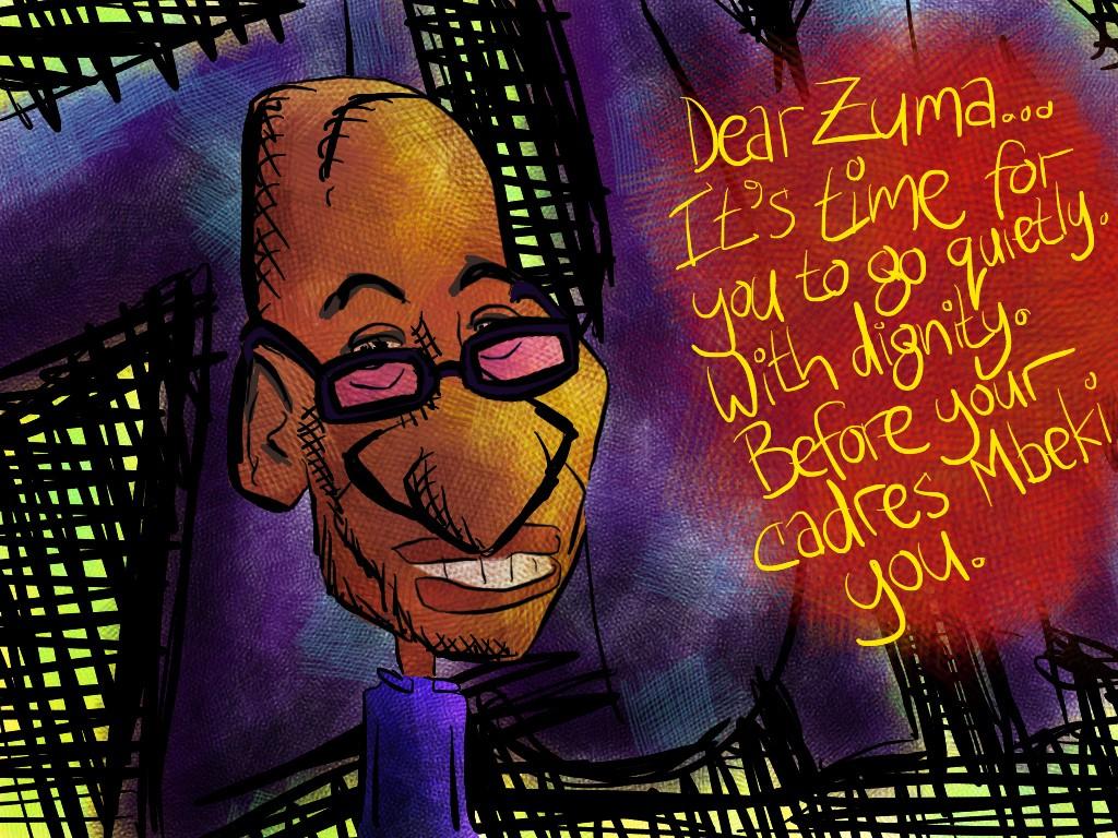 Zuma... Go quietly / Roy Blumenthal