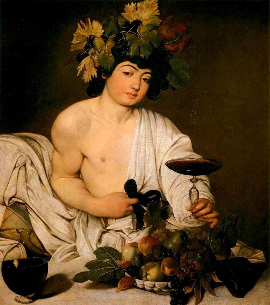 Caravaggio, 1595. Oli sobre taula, 98 cm × 84 cm. Galería Uffizi