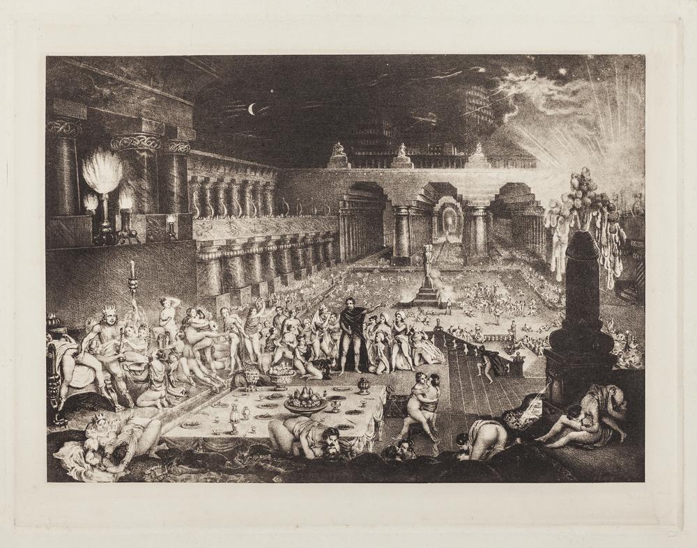 La caiguda de Babilònia (sobre l'any 1950, reedició d'un gravat del s. XIX) Anònim / Anónimo / Anonymous Collection Mony Vibescu © Gilles Berquet