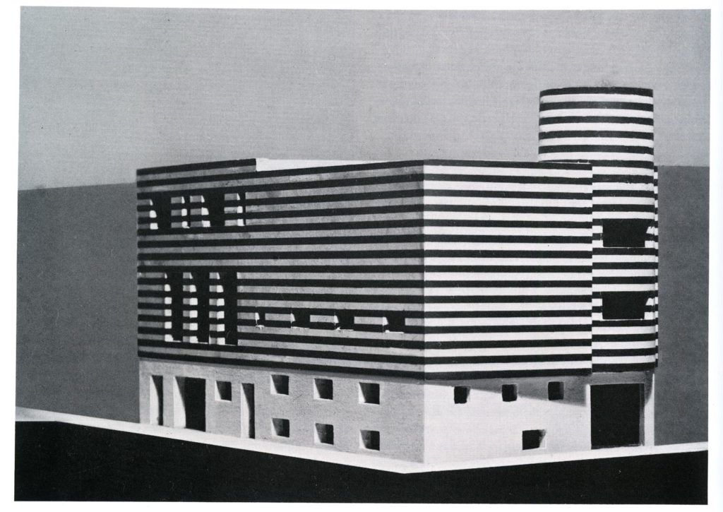 Maqueta de la casa Joséphine Baker a Avenue Bugeaud, París 16, 1927 Adolf Loos Fusta / Madera /wood Escala / Scale 1:100, 35,6 x 32,4 x 15,7 cm Fotografía de Martin Gerlach