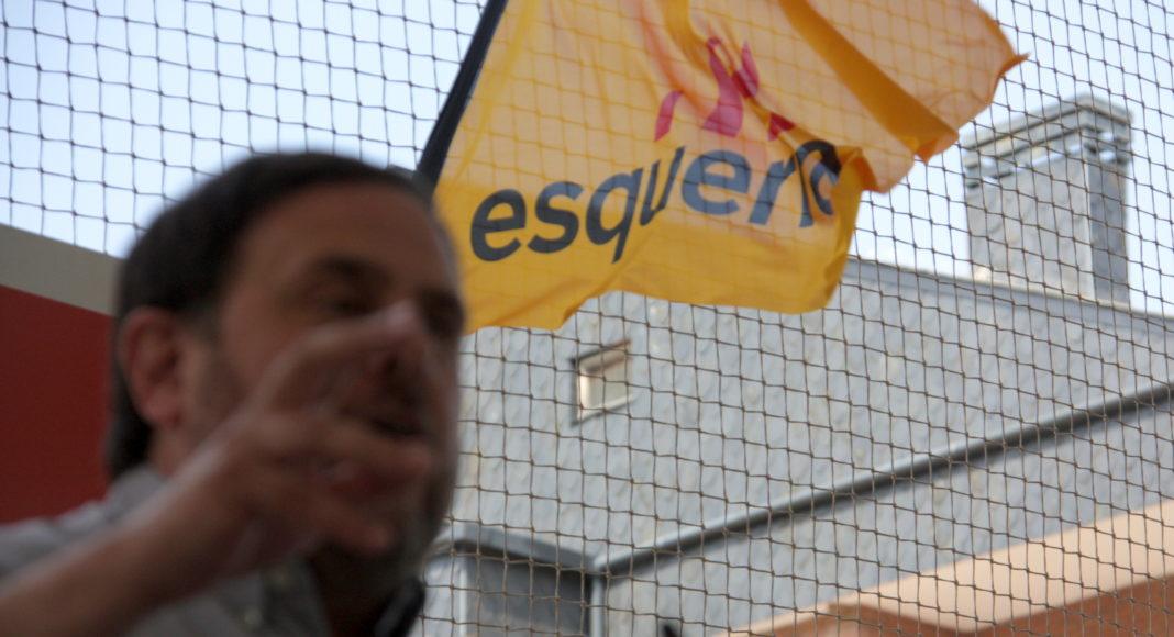 Oriol Junqueras i bandera d'ERC / ACN