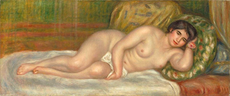 Pierre-Auguste Renoir, Femme nue couchée (Gabrielle), ca. 1906. Musée de l'Orangerie, París © RMN-Grand Palais (musée de l'Orangerie) / Hervé Lewandowski
