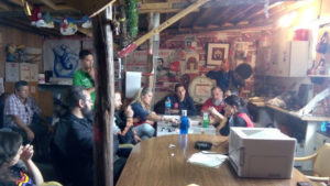 El campamento organizado por los trabajadores y trabajadoras de Coca-Cola