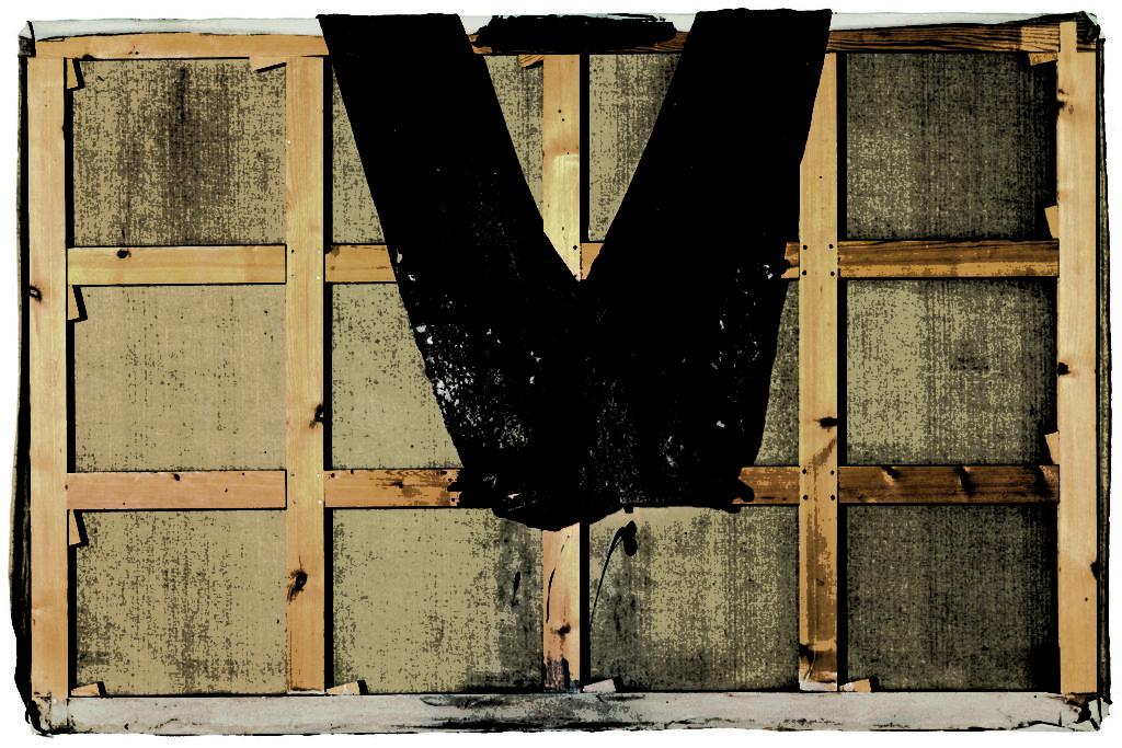 Antoni Tàpies, Pantalons sobre bastidor, 1971
