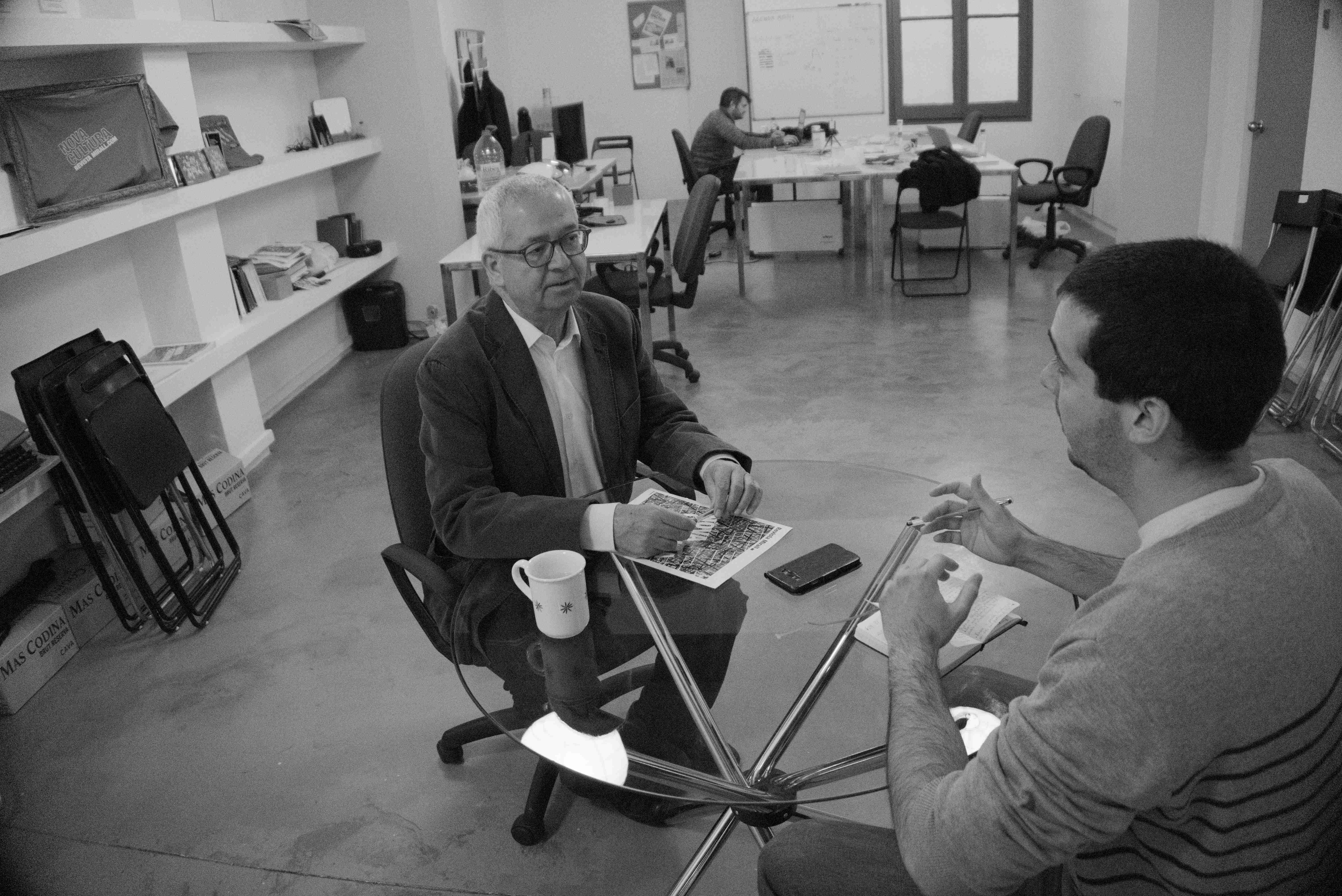 Ibrahim Beisani durant l'entrevista / Joan Solé