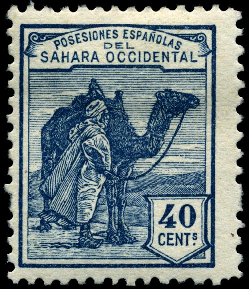 Stamp_Spanish_Sahara_1924_40c