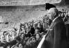 Franco en el palco del Santiago Bernabéu