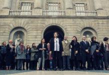 Acte simbòlic de suport a l'aturada internacional de dones / Ajuntament Barcelona