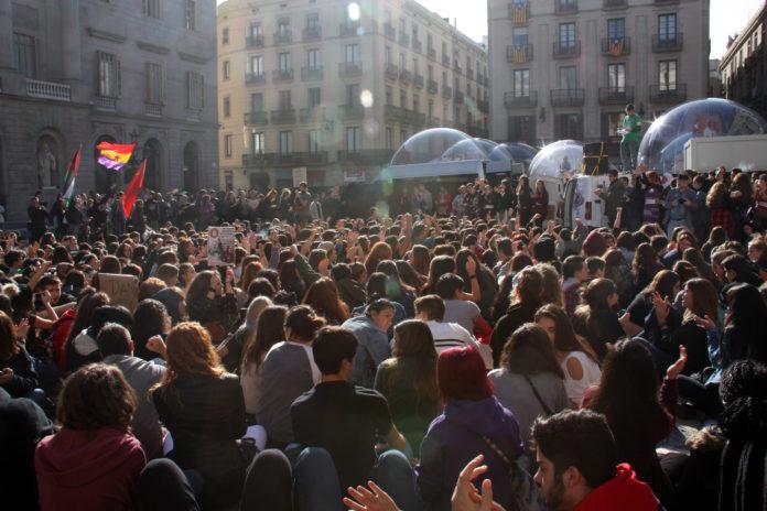 Pla general de la plaça Sant Jaume / ACN