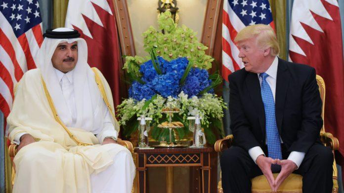 Tamim bin Hamad Al Zani i Donald Trump