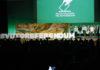 L'escenari final de l'acte del Pacte Nacional pel Referèndum / Rafa Garrido