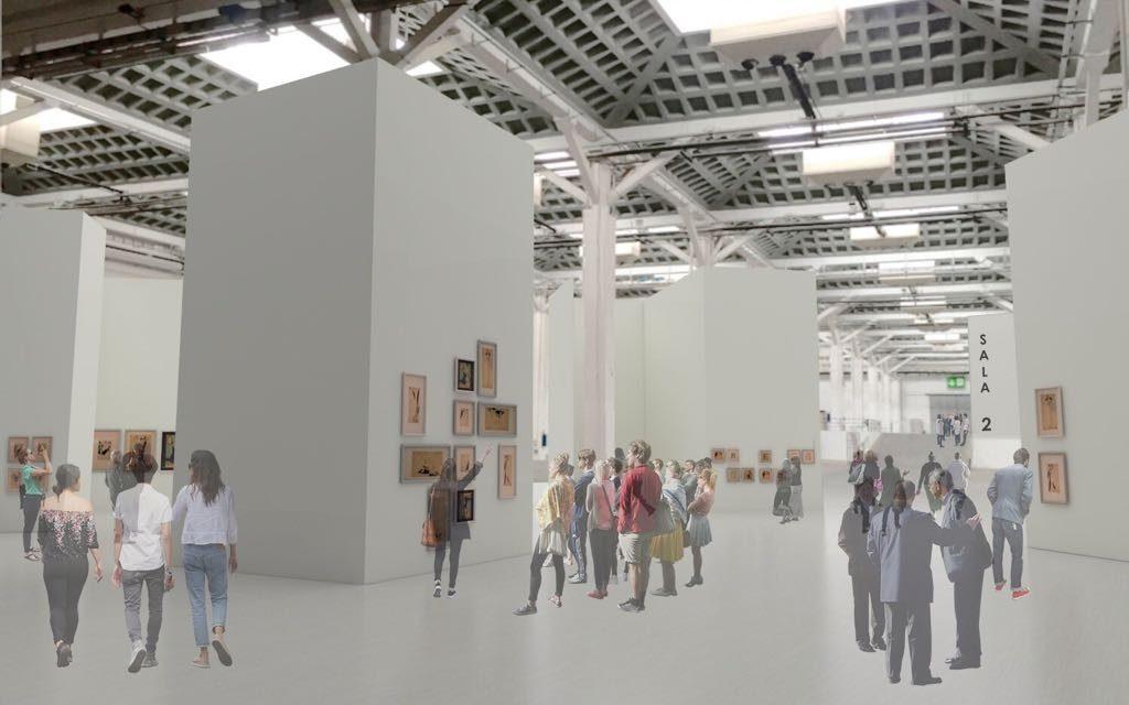 Simulacre de les exposicions al Pabelló Victoria Eugènia