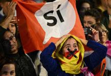 d'octubre, día del Referèndum per la Independència de Catalunya. A Plaça Catalunya un cop comunicats els resultats del Referèndum esclata el crit de independència. / Roser Vilallonga