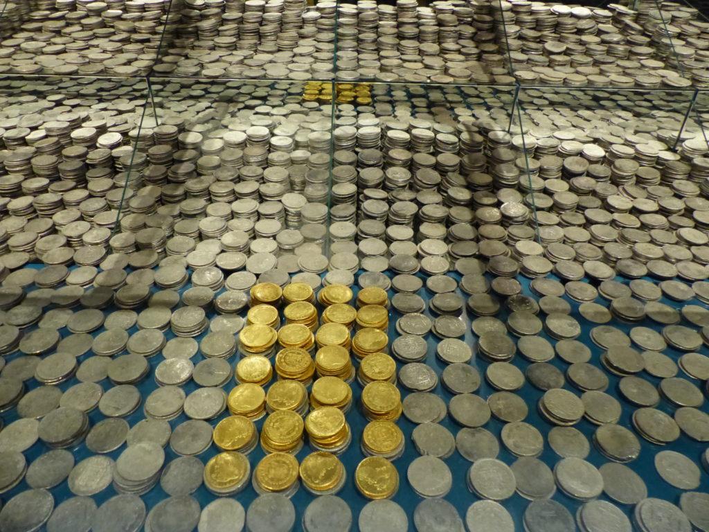 Part de les monedes trobades en les restes de la fragata Nuestra Señora de las Mercedes