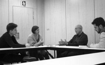 L'exconseller de Cultura, Joan Manuel Tresserras, i la número 8 de la llista d'ERC, Jenn Díaz