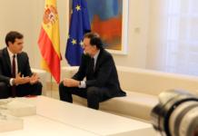 Imatge general de la trobada entre el líder de Cs, Albert Rivera, i el president del govern espanyol, Mariano Rajoy / Tània Tàpia
