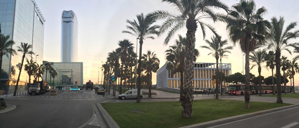 El museu inserit en el paisatge que l'acollirà l'Hermitage Barcelona / Imatges cedides per ujo+partners