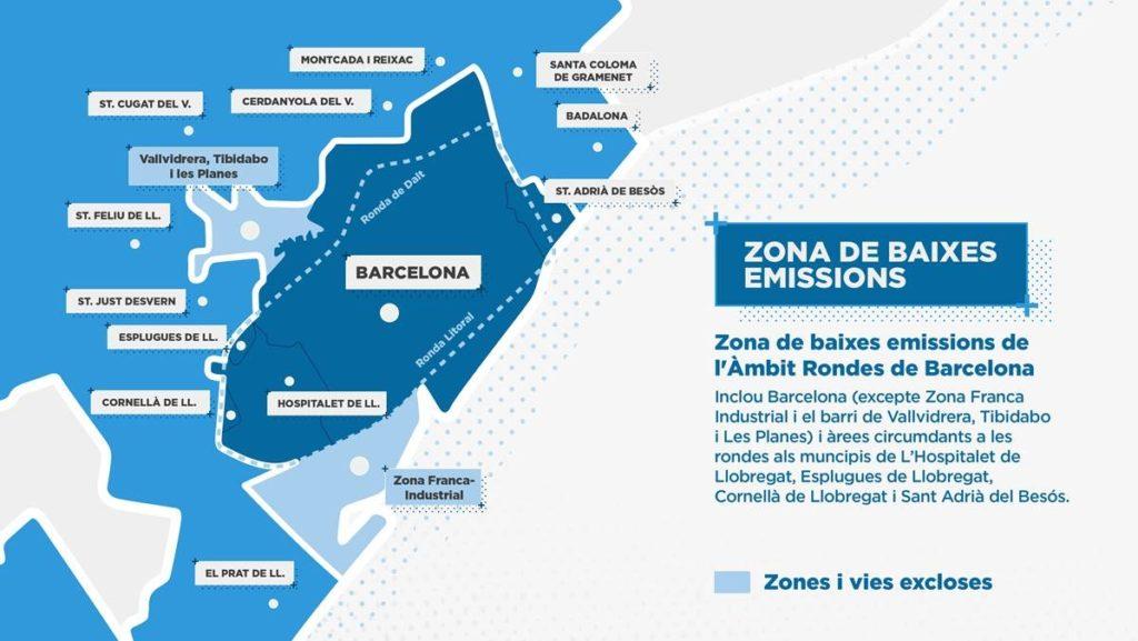 Mapa de la Zona de Baixes Emissions / Ajuntament de Barcelona