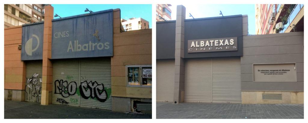 L'antic cinema Albatros i el Cinema Texas de Barcelona donen nom a l'Albatexas//ARA