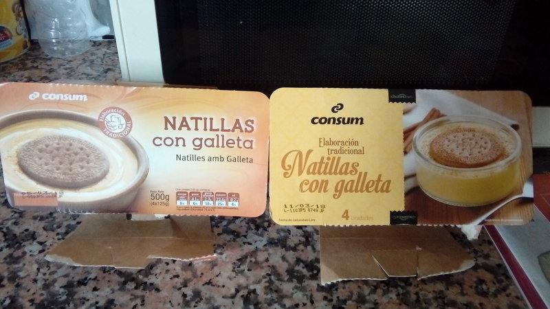 """El rètol de """"elaboración artesanal"""" substitueix al de """"natilles amb galeta""""//Change,org"""