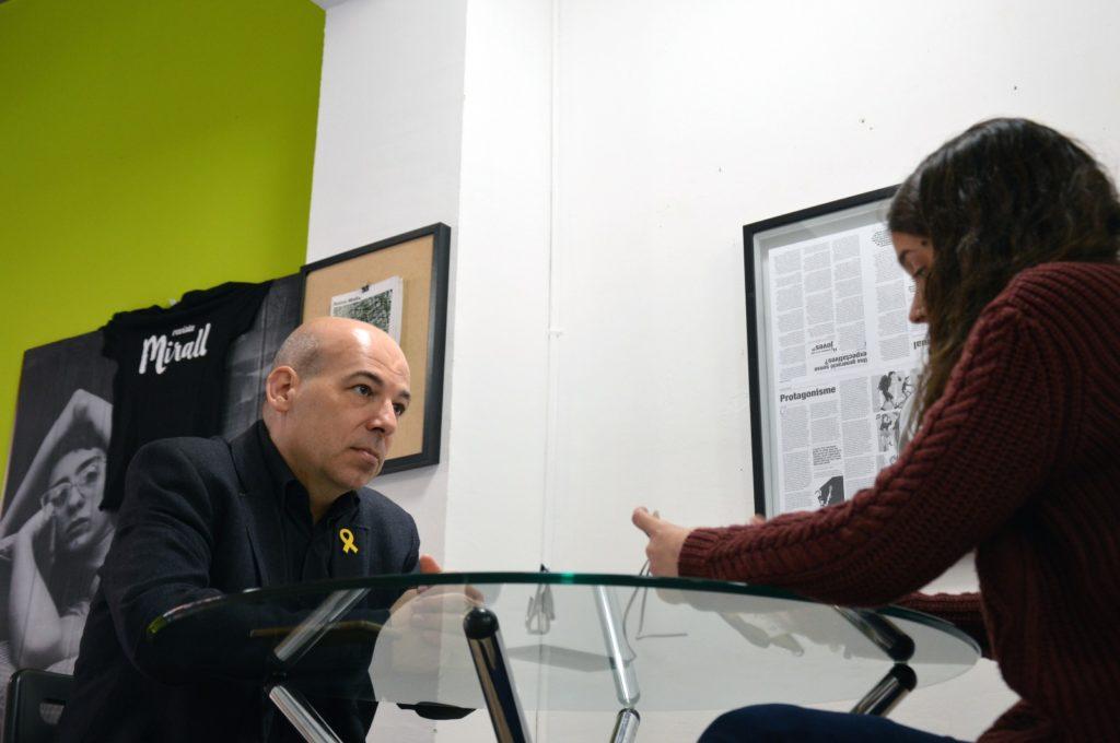 David Minoves, en un moment de l'entrevista / Revista Mirall