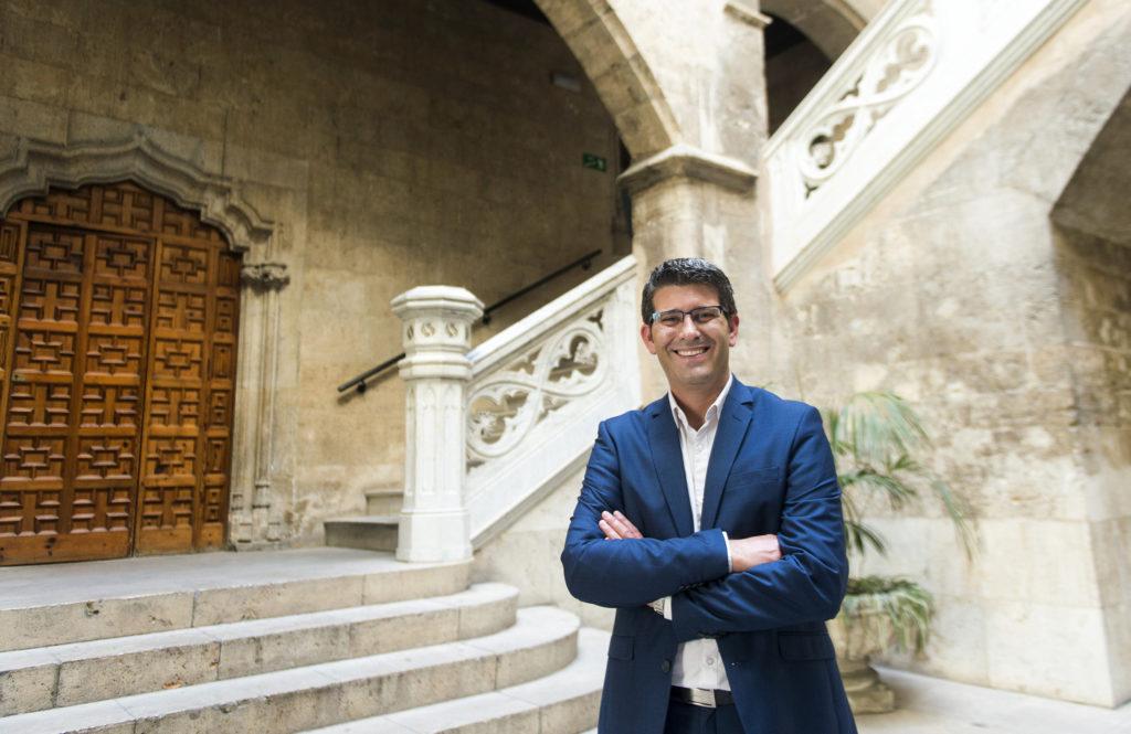 Jorde Rodríguez, president de la Diputació de València //Albulaila