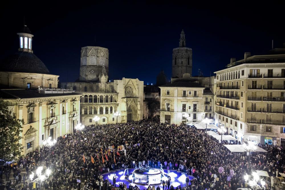 La huelga feminista en el País Valencià // Levante