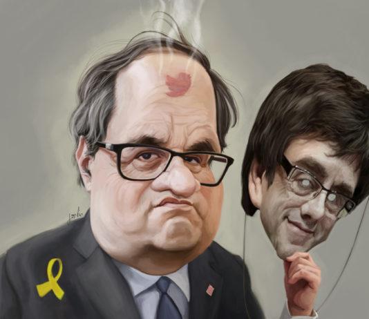 Caricatura de Quim Torra per Jordi Minguell / jordio.net