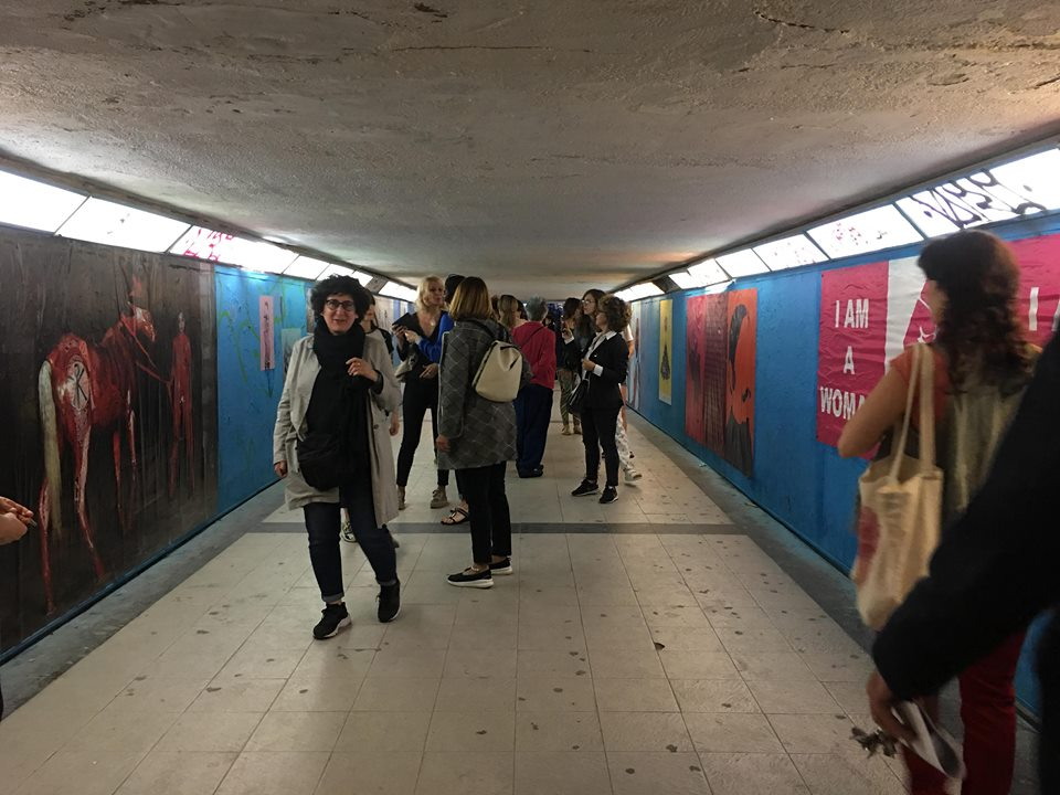 reactivación de la Galería Mari Boom (interior del pasaje subterráneo), 12 de junio de 2018. Foto: María Gimeno.