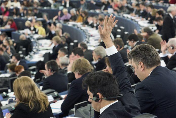 El Parlament europeu en un moment de la votació / @Europarl_ES