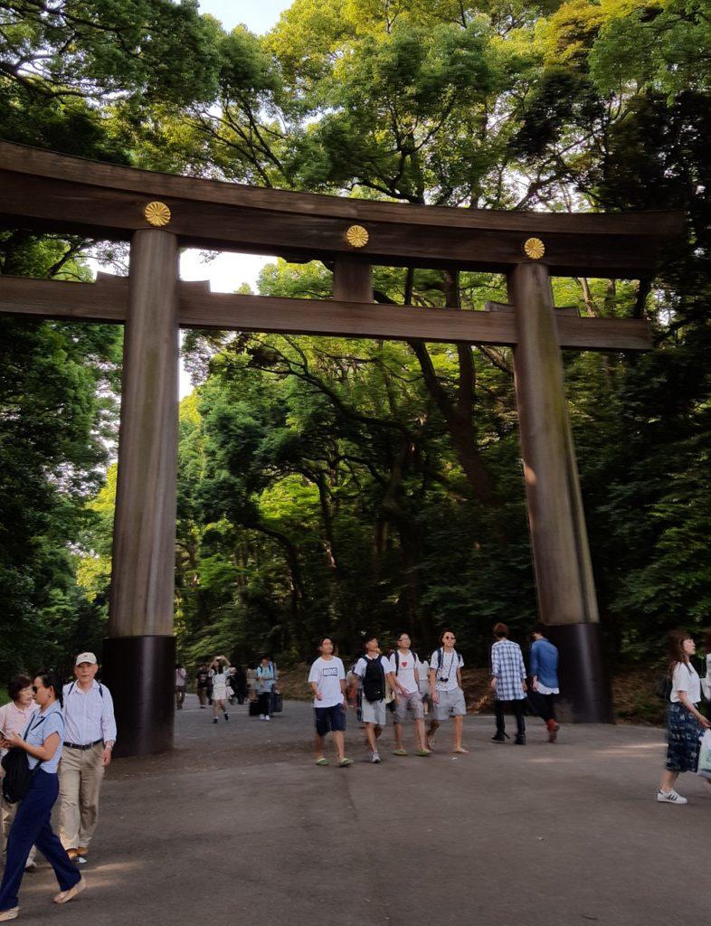 Torii gegant daccés al santuari