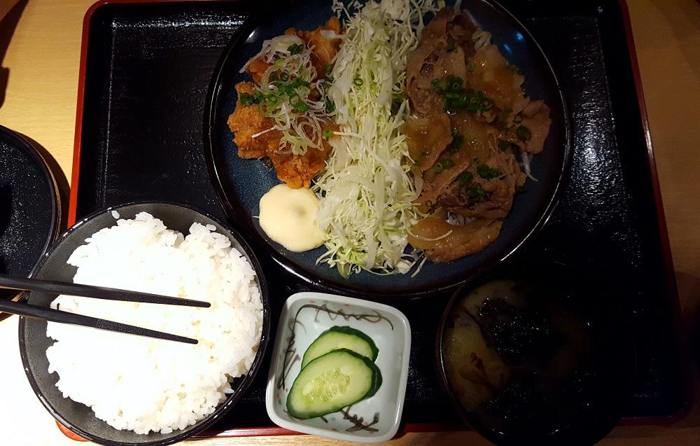 Típic menú japonès de diversos plats