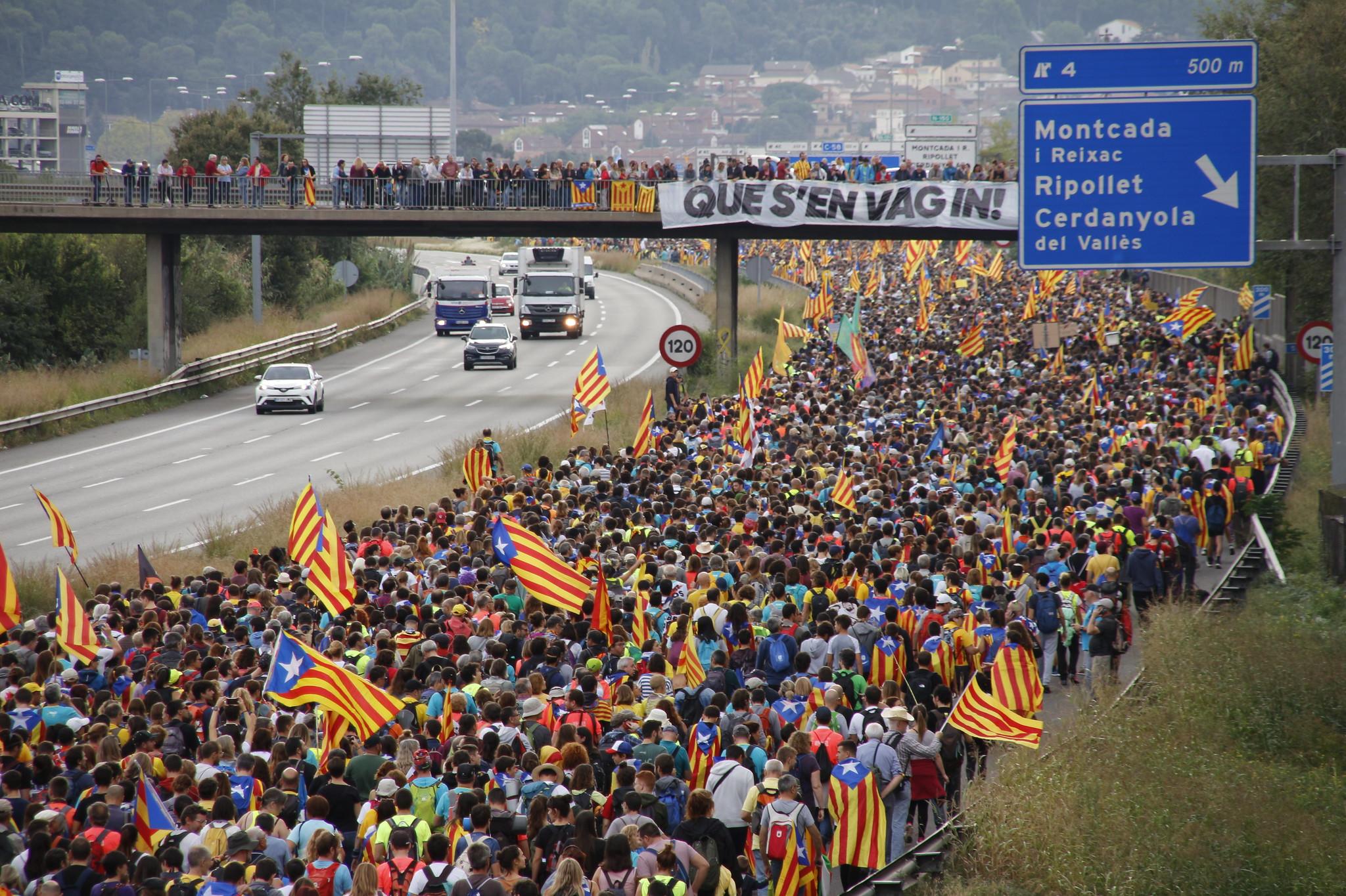 Les Marxes per la Llibertat Columna de Vic i Berga. Dia 3. / Flickr Assemblea