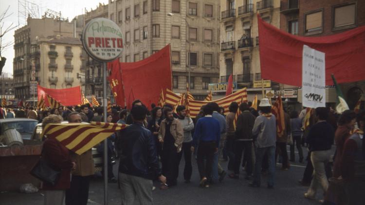 Manifestació a València.